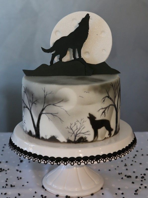 halloween cake wolf torte - Halloween Decorated Cakes