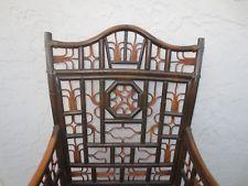 Fretwork Bamboo Chair Chinese Chippendale Rattan Regency Brighton Pavillion STY