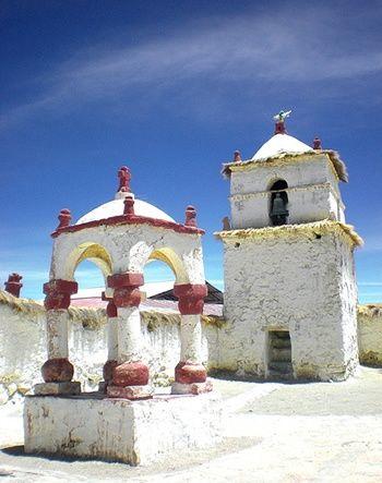 Iglesia de Parinacota, Putre, Chile.
