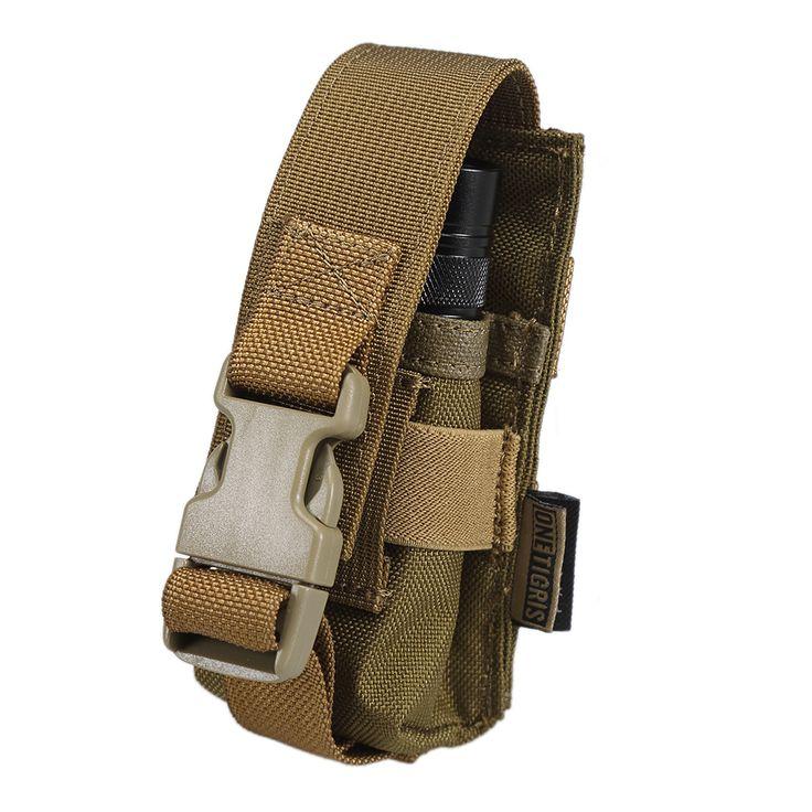 OneTigris Flashlight Holster MOLLE Pouch Tool Belt Accessory Holder 1000D Nylon