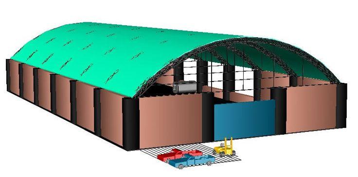 Nave industrial 3d - tinglado - taller (dwgDibujo de Autocad)