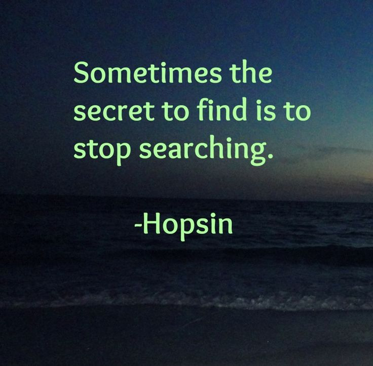 "Stop searching. Hopsin Quote from the song ""Ill Mind of Hopsin 5"" SO FUCKIN TRUE!! :D"