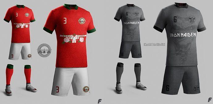 E se as bandas de Rock virassem clubes de futebol? Imagina os uniformes...   Blog Brasil Mundial FC   Globoesporte.com