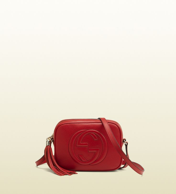 GUCCI - disco bag soho in pelle rossa.