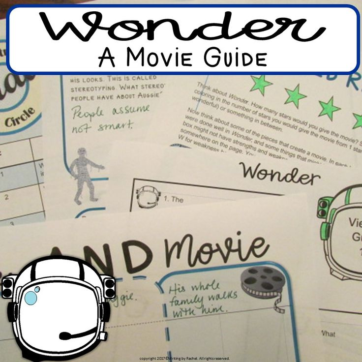 Going to see Wonder, the movie based on RJ Palacio's book? This collection of 8 activities will help. Includes 1 activity for before you see the movie. 1 activity to compare the movie and the book. And 6 other writing and discussion activities, each unique.