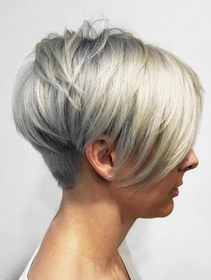 The points your hairs are kept on the forehead. This Short Pixie with Long Layers cuts make the wearer resembles a real pixie.