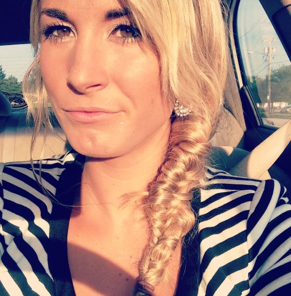 Fishtail braid, quick and easy hair style for work, plain and simple hair
