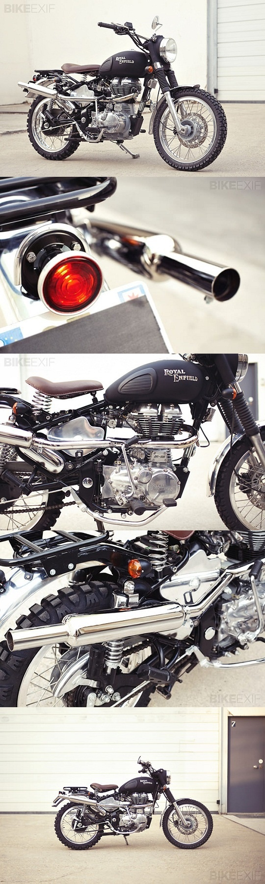 1955 Royal Enfield Bullet Electra Deluxe by Tendance Roadster Exhaust