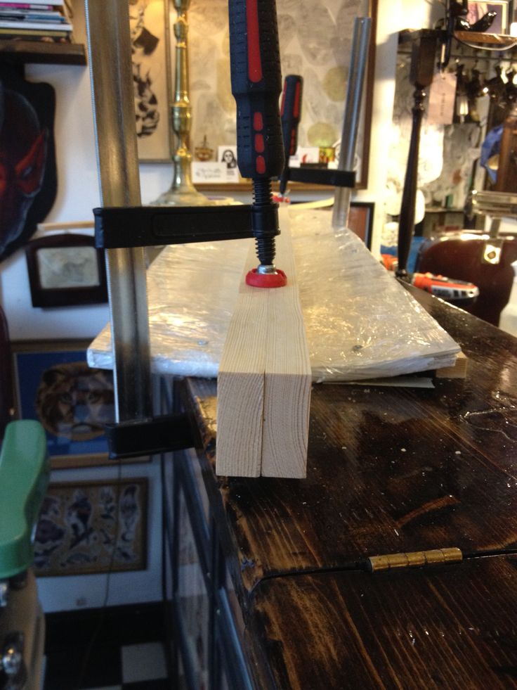 Glueing the birchlayers together