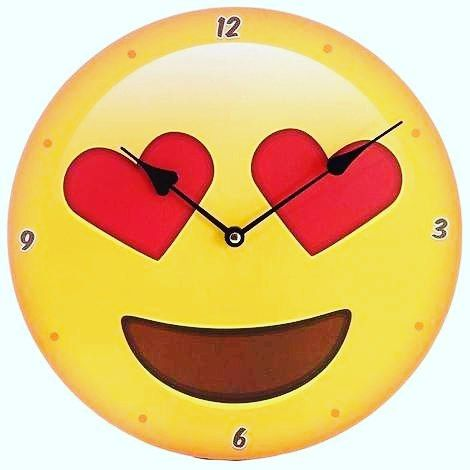 Love Heart  Emoji clocks. Only 8.99 in our #CyberMonday #Sale 20% off ends midnight tonight.  Www.giftfuse.com  #emogi #clock #love #heart #gifts #shopping #gift #BlackFriday #emotive #smile #smiley #Happy #photooftheday #mondaymotivation #discount #Dealoftheday