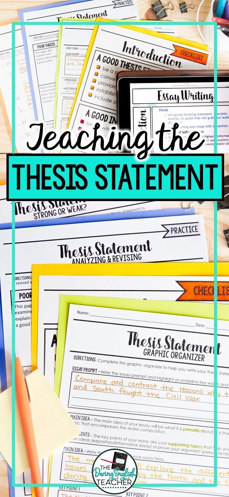 Thesis Statement And Introduction Essay Writing Writing A