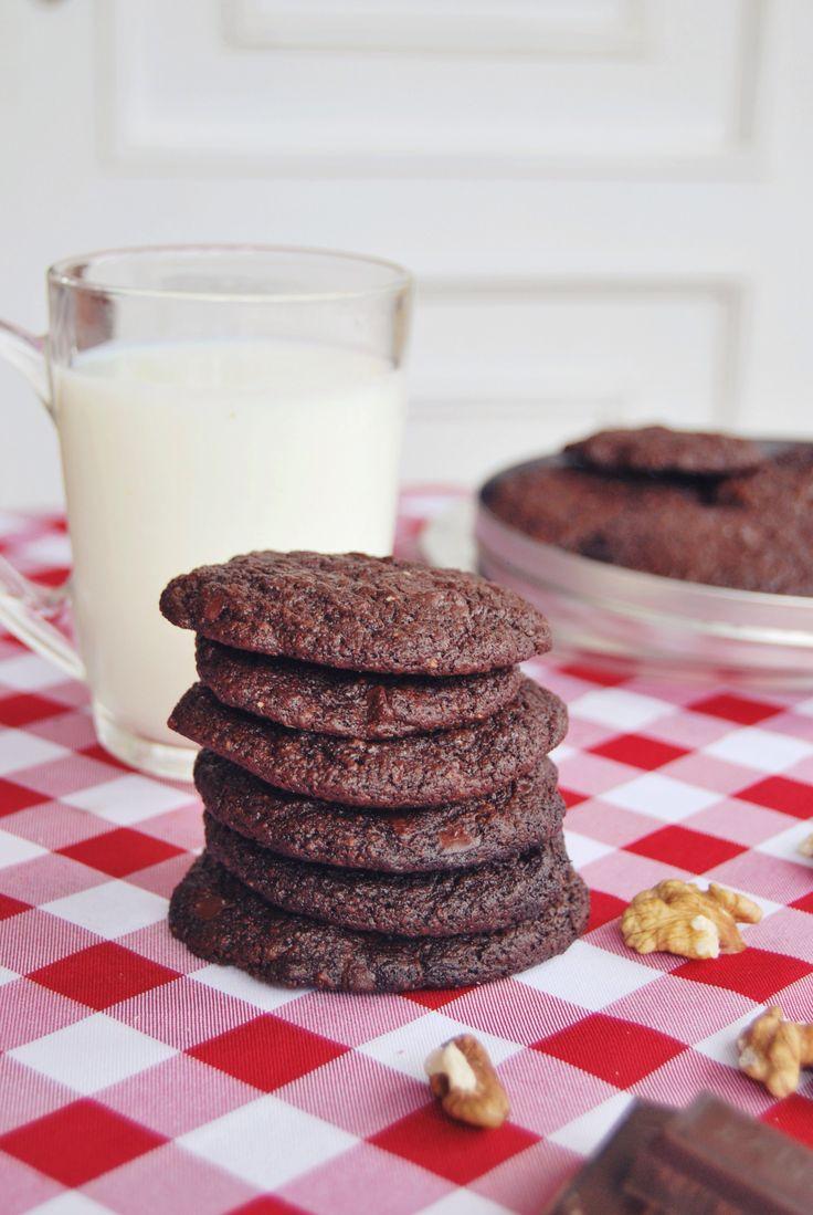 Glutenfree, sugarfree, lactosefree double chocolate cookies