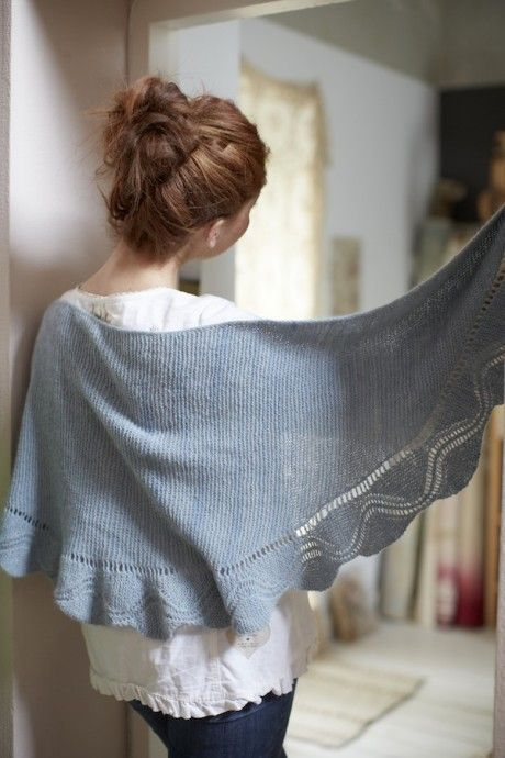 Charm shawl pattern by Juju Vail for Loop