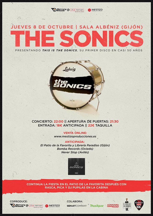 THE SONICS Jueves, 8 de Octubre de 2015Sala Albeniz Gijón, Asturias (ESPAÑA)