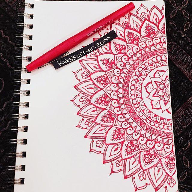 #kitskorner #mandalas #doodles #papermate #flair