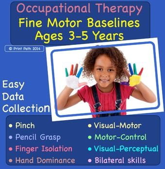 Are your assessment tools and data tracking systems inadequate to describe the breath and depth of fine motor skills that you want address in therapy? Print Paths 3-5 year-old Fine Motor Baselines can be used as a survey tool and a progress monitor tool.