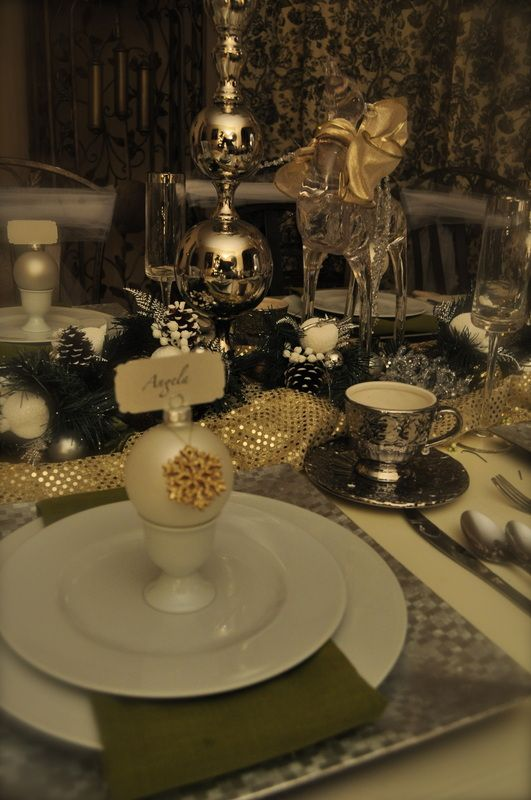 Here is my Christmas tablescape.  For more details please check out my blog.  Thanks.