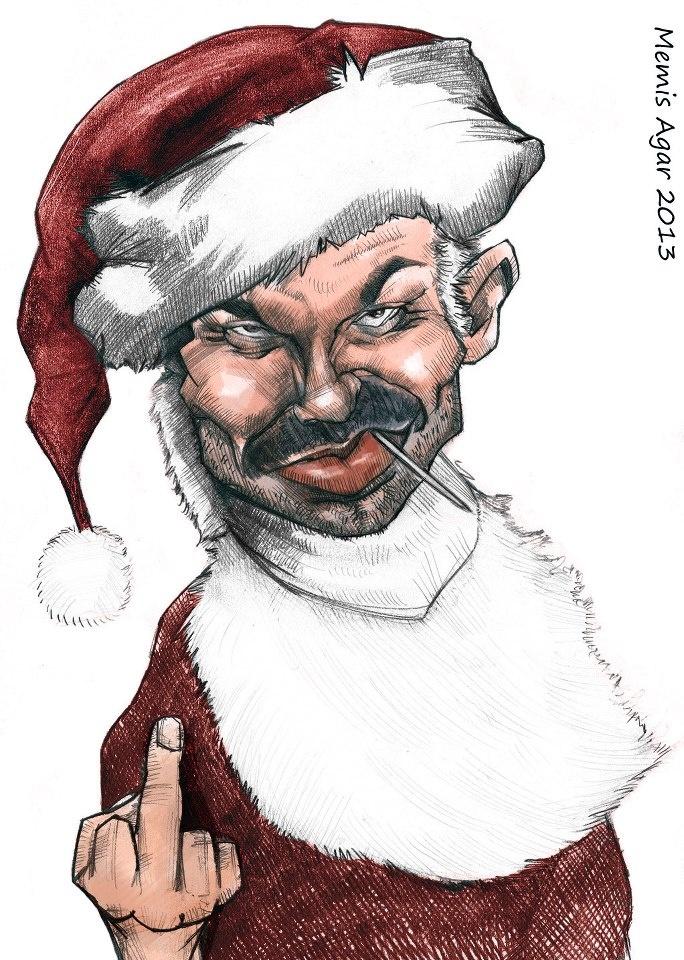 Bad Santa (Billy Bob Thornton) - fan art - Caricature de Billy Bob Thornton par Memiş Ağar