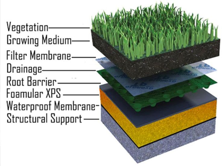 Green Roof Gardens are becoming an increasingly popular roofing option for concrete roofs, with many modern cities demanding a percentage of total roof space be green. Green Roof Gardens reduce surrounding temperatures, provide insulation, improve air quality, reduce storm water runoff and provide people and animals with more outside space. Learn more about Green Roof Insulation.