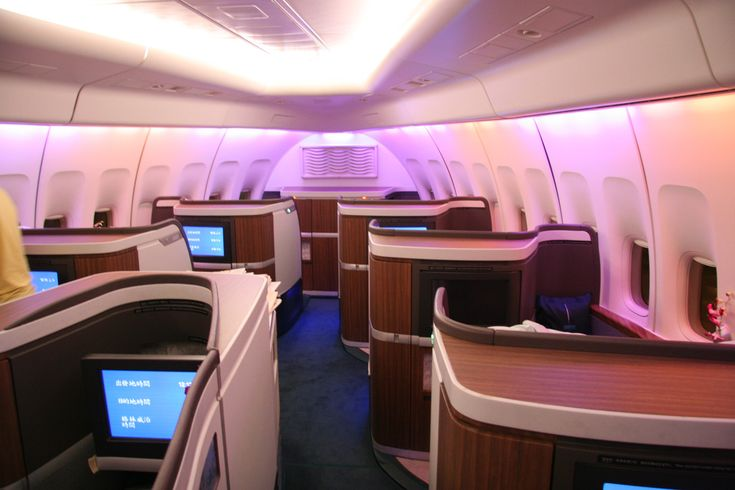 Boeing 747-8 nose section cabin | Aircraft nose cabin with private first class suites.