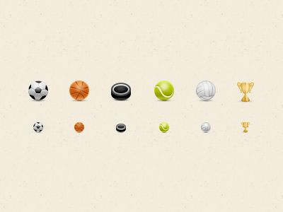 Sport icons by Alla Sheptulya