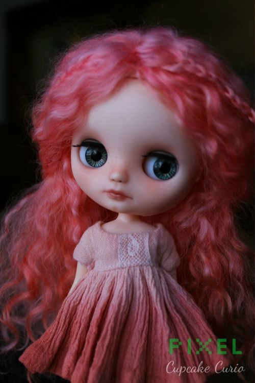 Sweet Tiny in pink <3 Custom doll by Cupcake Curio