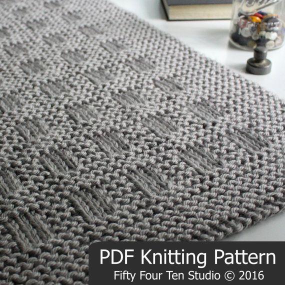KNITTING PATTERN / Westport Blanket / Throw por FiftyFourTenStudio