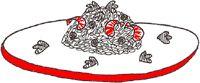 Risotto met garnalen, doperwten en koriander