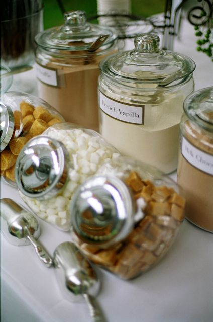 Hot chocolate bar....for the winter wedding of course...but if it's cold in the spring? Im always up for hot chocolate haha