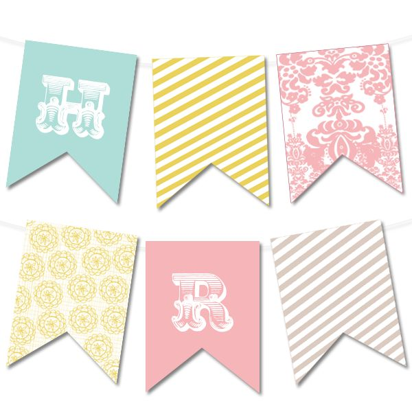 Pretty Flora Printable Bunting Banner | Printable Party Decor