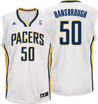 Indiana Pacers Tyler Hansbrough 50 White Authentic Jersey Sale
