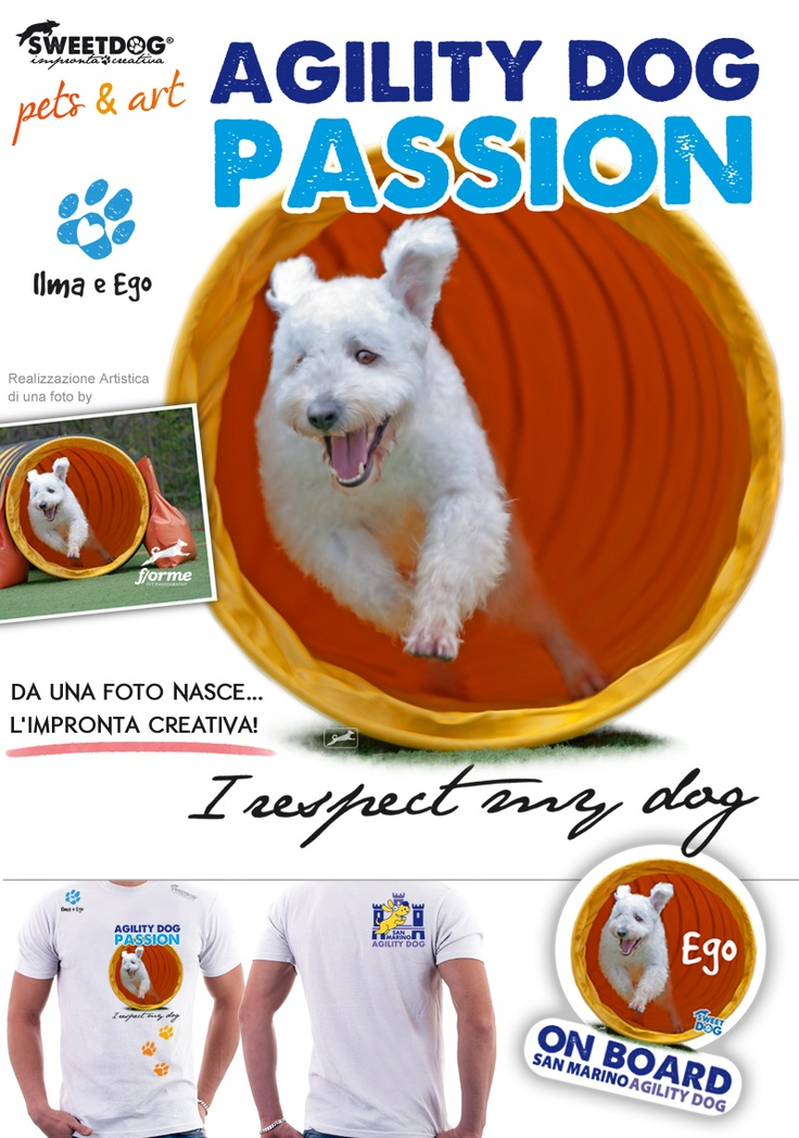 DOG: EGO (Pumi) - Personalized Agility Dog T-Shirt & Sticker
