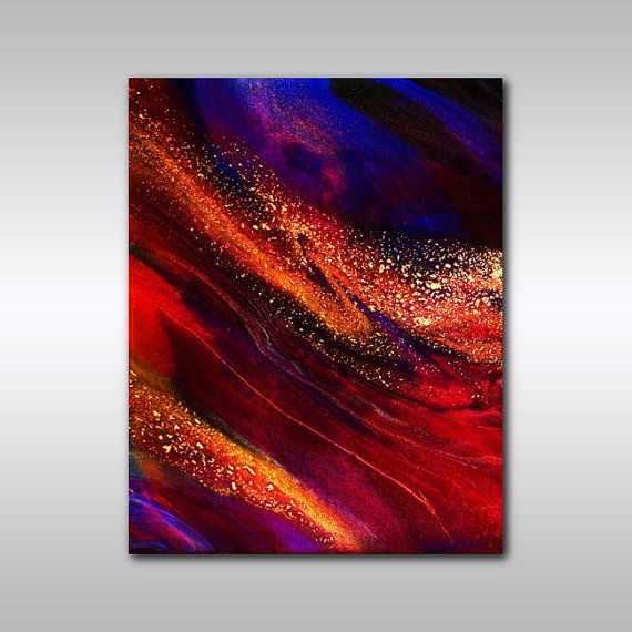 Jewel Tone Red Print - 5 x 7 Abstract Art Giclee Print - Canadian Art - Wall Decor - Red Wall Art on Etsy, $9.41