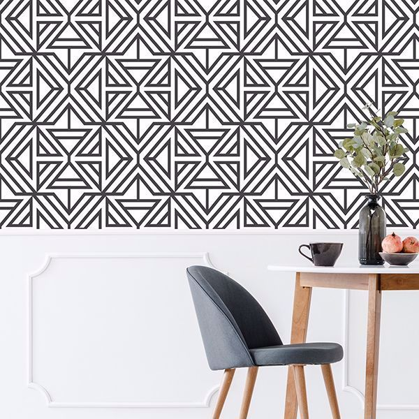 Black Linear Peel And Stick Wallpaper Peel And Stick Wallpaper Self Adhesive Wallpaper Nuwallpaper