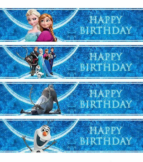 Frozen: Etiquetas para Imprimir Gratis.