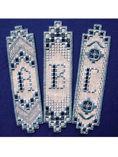 Hardanger Monogram Bookmarks Pattern