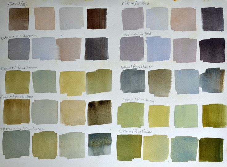 This watercolor tip is an amazingly easy way to mix a warm color, a cool color, a light value and a dark value using just 2 colors.