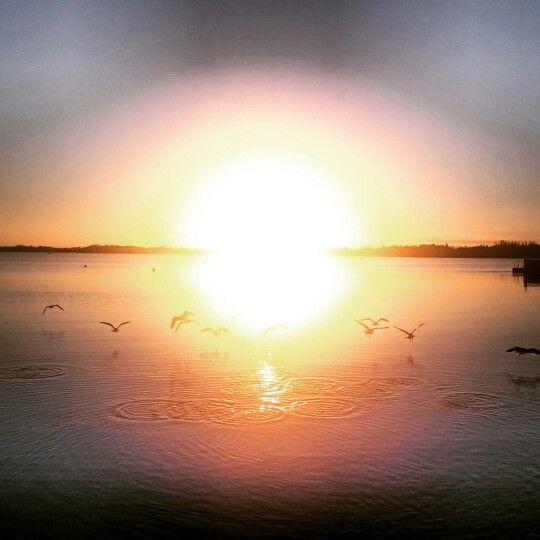 Sunrise over Lough Ree at Hodson Bay Hotel