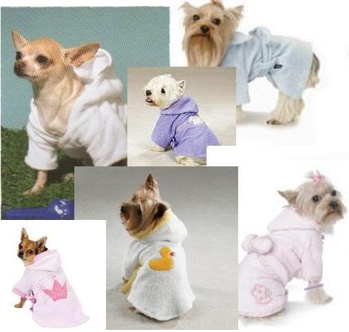 Patrones de ropa para perros: Patrón de bata de baño para perro