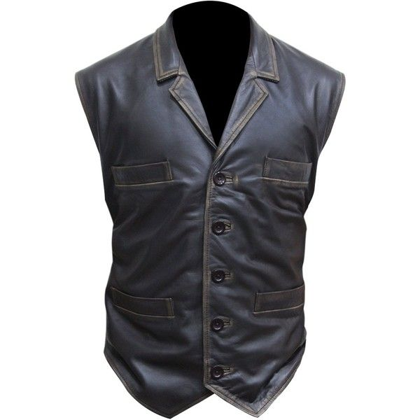 Cullen Bohannan Hell on Wheels Real Leather Vest at Amazon Men's... ❤ liked on Polyvore featuring men's fashion, men's clothing, men's outerwear, men's vests, mens vest, mens vest outerwear and mens leather vest