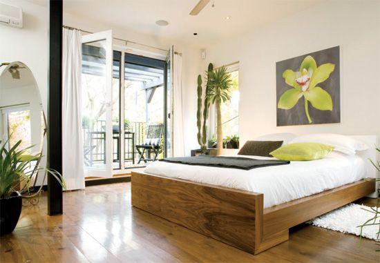 Modern and fresh bedroom / chambre moderne et rafraichissante.