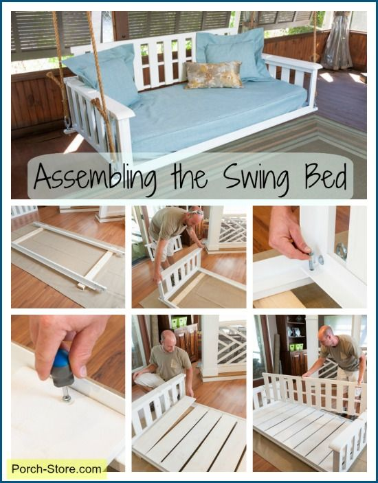 Assembly of a swing bed from the Porch Store #porchswing