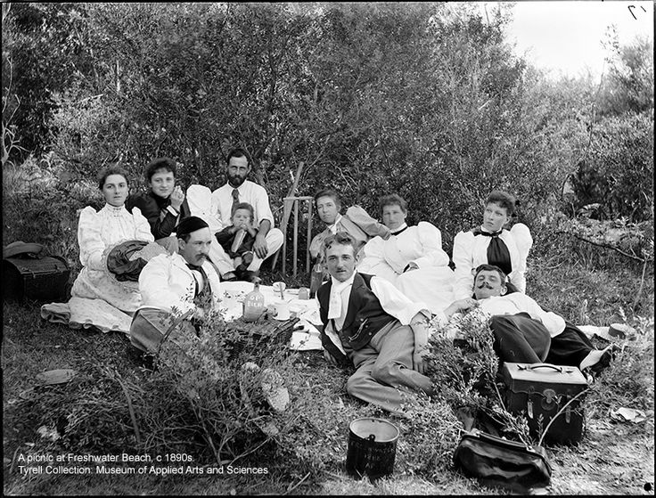 A Picnic at Freshwater Beach, c.1890s