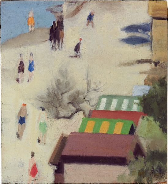 Clarice BECKETT  Australia 1887 – 1935  Sandringham Beach c1933   Painting oil on canvas (Sandringham  is a bayside suburb of Melbourne, Victoria)
