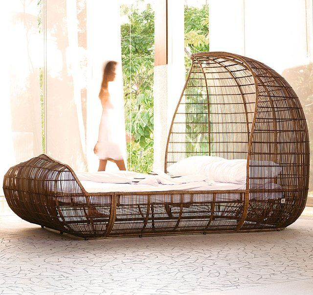 Wooden bed design. Creative and unique. Bedroom furniture.
