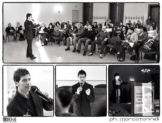 Un bellissimo collage fotografico in bianco e nero di Marco Toninelli, durante il seminario del coach motvazionale Giancarlo Fornei, tenuto a Villa Fenaroli (marzo 2015)