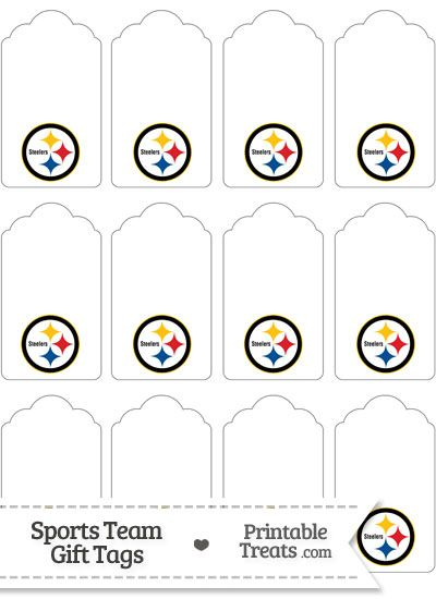 Pittsburgh Steelers Gift Tags from PrintableTreats.com