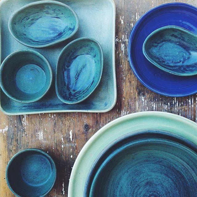 #ceramikazlanckorony #lanckorona #ceramika #pottery #handmade #tableware #turquise #blue #ceramics
