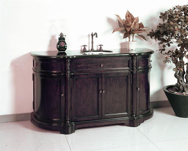 Website Photo Gallery Examples Legion W Antique Bathroom Vanities Dark Brown Finish with a Black Granite