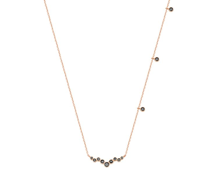 rose gold necklace in 14K